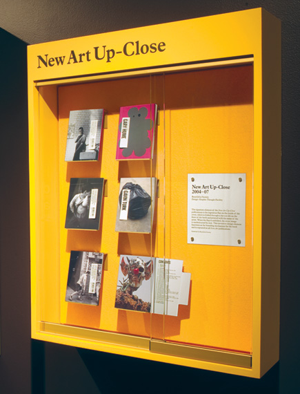 New Art Up-Close books designed by Graphic Thought Facility on show at the Design Museum